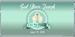 Custom and personalized First Holy Communion candy bar wrapper favors