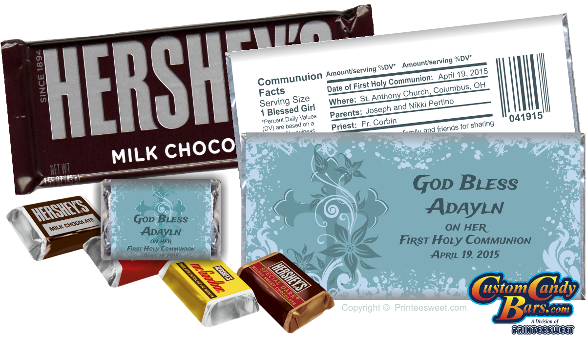 Custom and personalized candy bars by Printeesweet